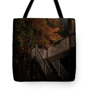Stairway To Autumn Leaves Tote Bag