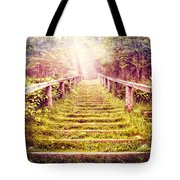 Stairway To The Garden Tote Bag