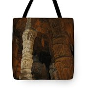 Stalacmites In Luray Caverns Va  Tote Bag
