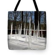 Stalagmite Icicles Tote Bag