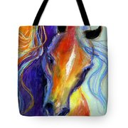Stallion Horse Painting Tote Bag