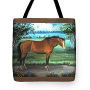 Stallion Portrait Tote Bag