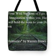 Stallions Of Destiny Tote Bag