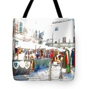 Stalls With Medieval Objects Tote Bag