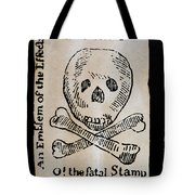 Stamp Act: Cartoon, 1765 Tote Bag by Granger