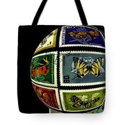 Butterfly Postage Stamp Art Print Tote Bag