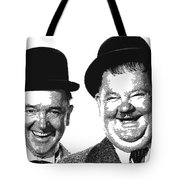 Stan And Ollie - Parallel Hatching Tote Bag
