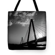 Stan Musial Bridge St Louis Mo Black And White_dsc4591_16_65 Tote Bag