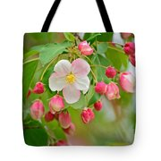Stand Alone Japanese Cherry Blossom Tote Bag