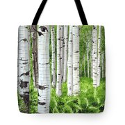 Stand Of Birch Tote Bag