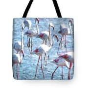 Stand Out In The Crowd Flamingo Watercolor Tote Bag