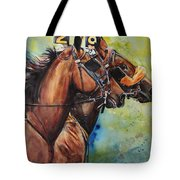 Standardbred Trotter Pacer Painting Tote Bag