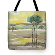 Standing In Distance Tote Bag