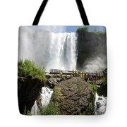 Standing Below Bridal Veil Falls Tote Bag
