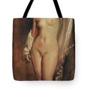 Standing Female Nude Tote Bag