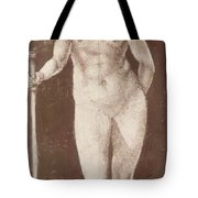 Standing Female Nude With Baton In The Right Tote Bag