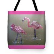 Standing Flamingos Tote Bag