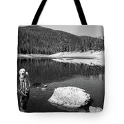 Standing In Comanche Reservoir Tote Bag