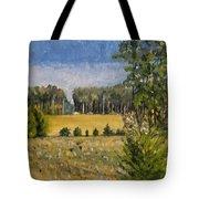 Standing In Howards Farm Tote Bag