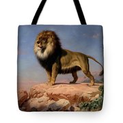 Standing Lion Tote Bag