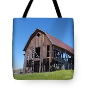 Standing Old Wooden Barn  Tote Bag