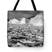 Standing On Lake Michigan Ice Tote Bag