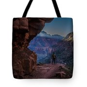 Standing On The Edge Of The Earth Tote Bag