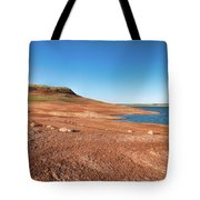 Standing On The Lakebed Tote Bag