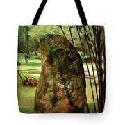 Standing Stone With Fern And Bamboo 19a Tote Bag by Gerry Gantt
