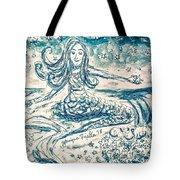 Star Bearer Mermaid Tote Bag by Monique Faella
