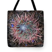 Star Cactus Pink-aqua-blue Tote Bag