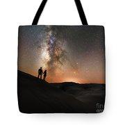 Star Crossed Lovers At Night Tote Bag