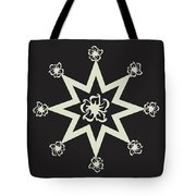 Star Flower - Ebony And Ivory Tote Bag