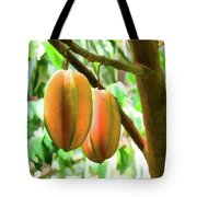 Star Fruit On The Tree Tote Bag