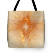 Star In Abstract Tote Bag