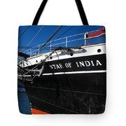 Star Of India Tall Ship San Diego Bay Tote Bag