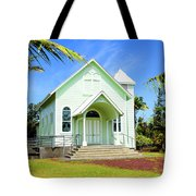 Star Of The Sea Painted Church Tote Bag