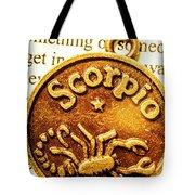 Star Sign In Scorpio Tote Bag
