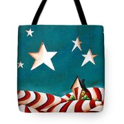 Star Spangled Tote Bag by Cindy Thornton