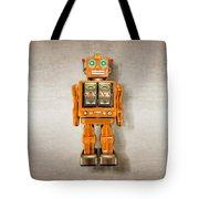Star Strider Robot Orange Tote Bag