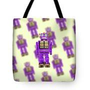 Star Strider Robot Purple Pattern Tote Bag