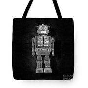 Star Strider Robot Red Bw Tote Bag