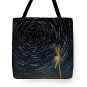 Star Trail In Hays, Ks Tote Bag