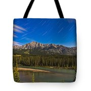 Star Trails Above The Front Ranges Tote Bag