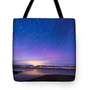 Star Trails And Auroras Tote Bag