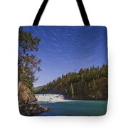 Star Trails And Moonbow Over Bow Falls Tote Bag