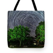 Star Trails At Sunken Meadow State Park Tote Bag