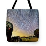 Star Trails Over Custer Observatory Tote Bag