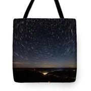 Star Trails Over Whitesburg Tote Bag