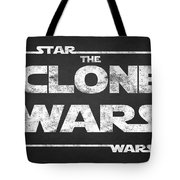 Star Wars The Clone Wars Chalkboard Typography Tote Bag